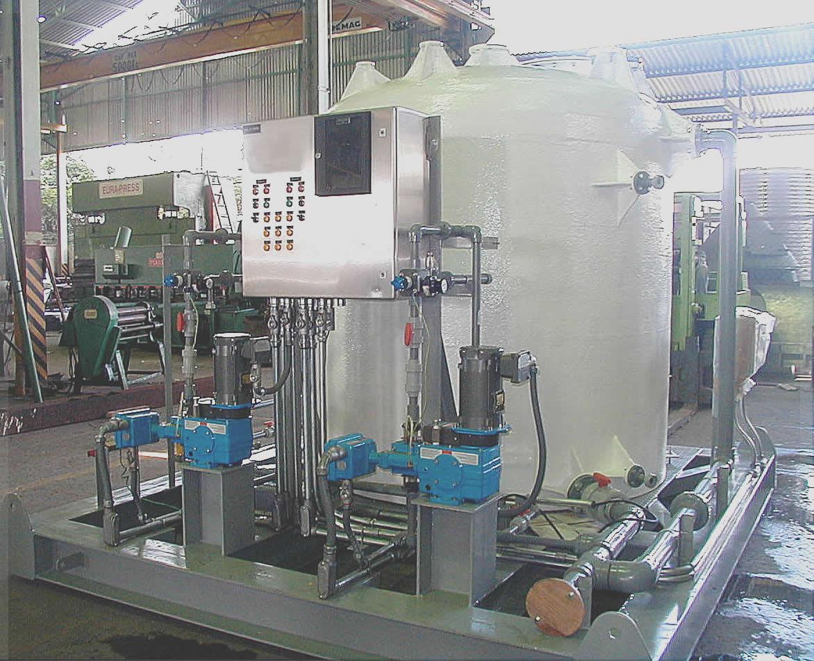 Paquete de Inyección de Hipoclorito de Sodio Pre-ensamblado en taller