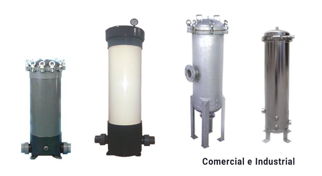 Recipientes de Filtro de Cartucho Comerciales e Industriales